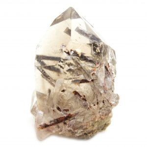 Rutilated Red Epidote in Smoky Quartz Crystal with Bridge-86694