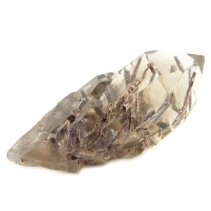 Rutilated Red Epidote in Quartz Crystal-86698