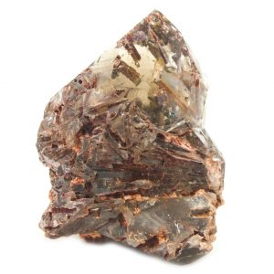 Rutilated Red Epidote in Smoky Quartz Crystal-86711