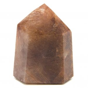 Strawberry Rutilated Channeling Quartz Point-0