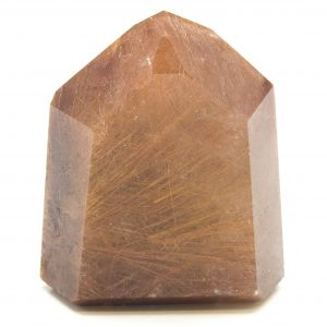 Strawberry Rutilated Channeling Quartz Point-87027