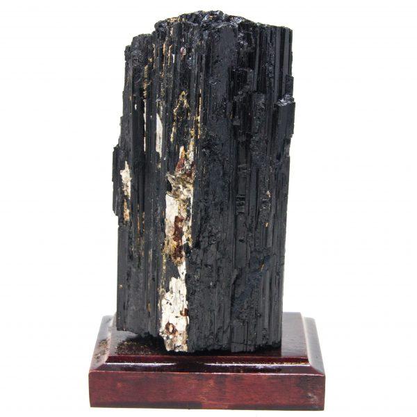 Black Tourmaline on Wood Base-0