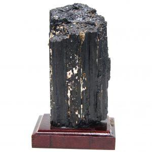 Black Tourmaline on Wood Base-87420