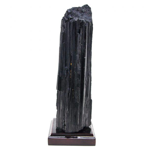Black Tourmaline on Wood Base-87460