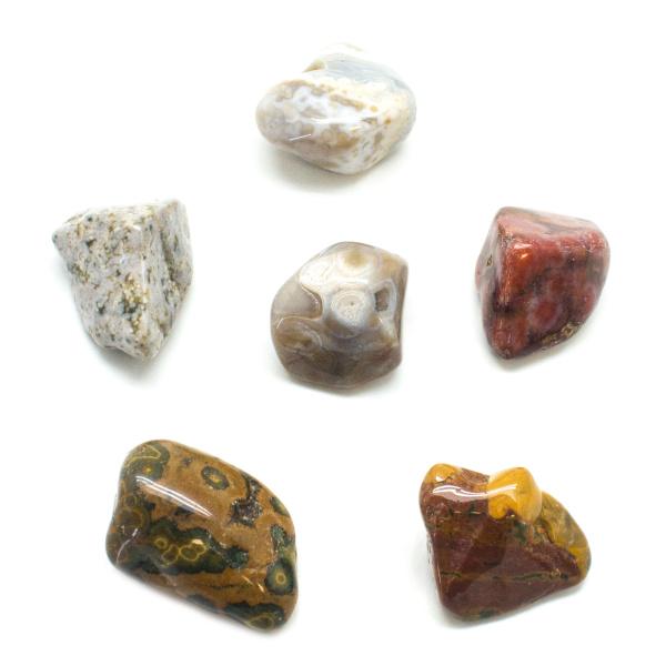Ocean Jasper Tumbled Large Stone Set-90728