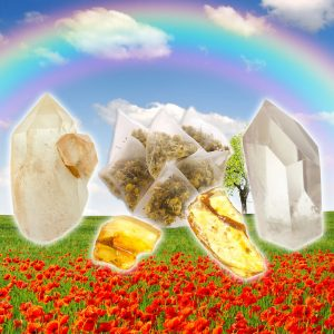 Amber, Golden Healer Lemurian, and Quartz Tea for Success-0