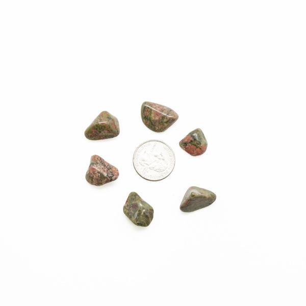 Unakite Tumbled Stone Set (Small)-91325