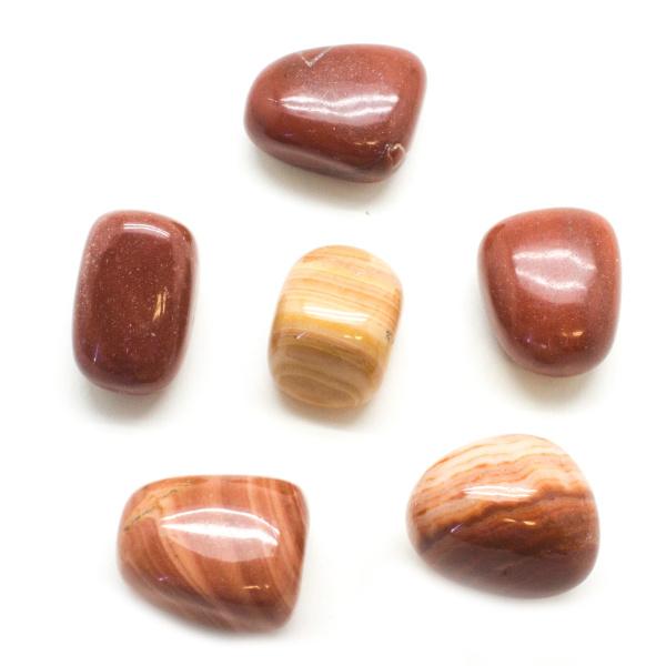 Red Malachite Tumbled Set (Large)-0
