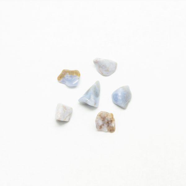 Blue Chalcedony Tumbled Set (S)-94938
