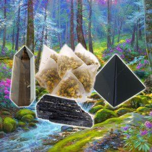 Black Tourmaline, Black Obsidian, and Smoky Quartz Tea for Grounding-0