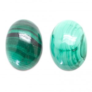Malachite Oval Cabochon Pair-0