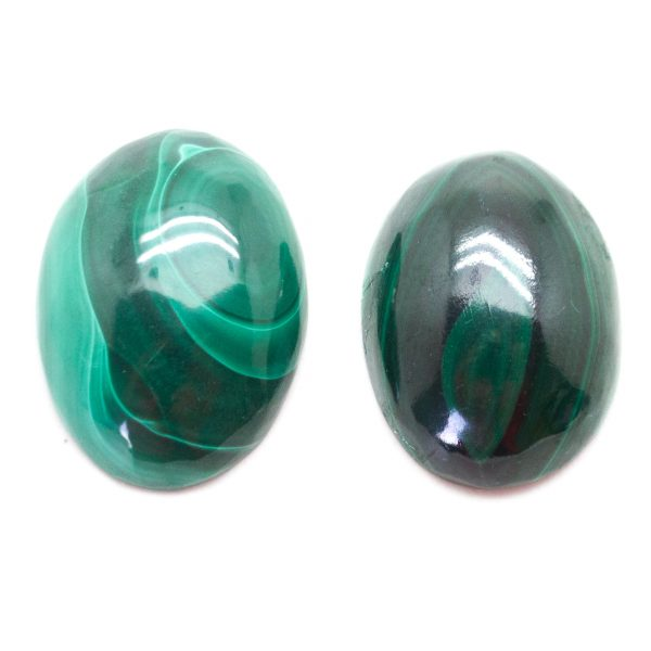 Malachite Oval Cabochon Pair-78295