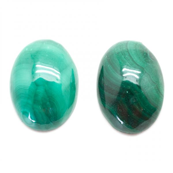 Malachite Oval Cabochon Pair-78296