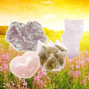 Rose Quartz, Kunzite, and Lepidolite Tea for Self-love-0