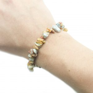 Crazy Lace Agate Chip Bracelet-104585