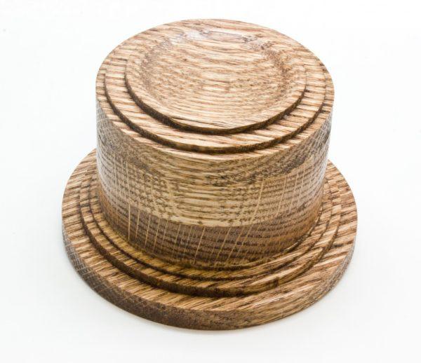 Oak Wood Sphere Stand (Lg.)-0