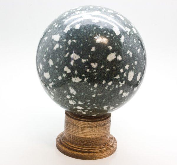 Oak Wood Sphere Stand (Lg.)-78392
