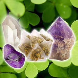 Amethyst, Sugilite, and Quartz Tea for Luck-0