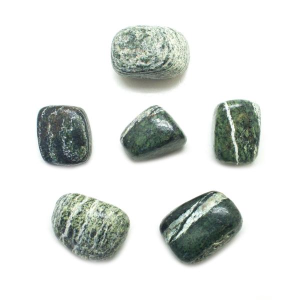 Green Zebra Stone Tumbled Stone Set (Medium)-0