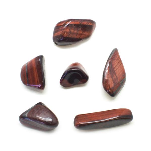 Red Tiger's Eye Tumbled Stone Set (Large)-136328