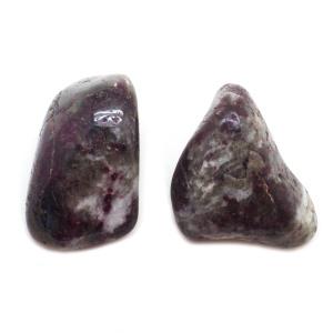 Pink Tourmaline with Matrix Aura Stone Pair (Medium)-113805