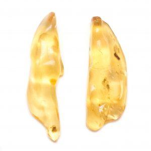 """Colombian Amber"" Aura Stone Pair (Medium)-0"