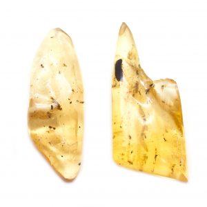 """Colombian Amber"" Aura Stone Pair (Medium)-113859"