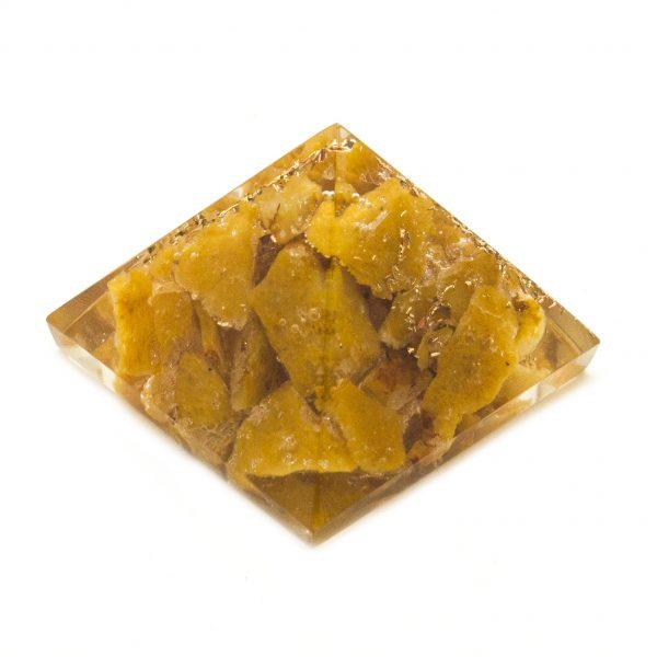 Yellow Agate Orgonite Pyramid-113913