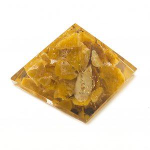 Yellow Agate Orgonite Pyramid-0