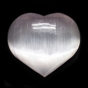 Selenite Heart-0