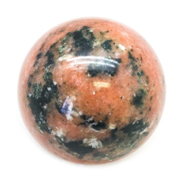 Orange Calcite Sphere (70-80 mm)-136966