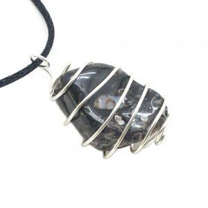 Turritella Agate Vortex Pendant-118420