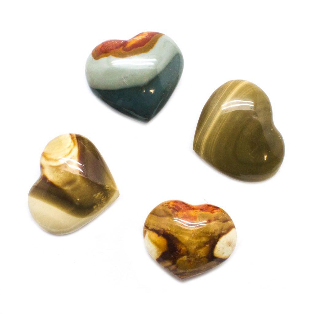Polychrome Jasper Heart-116553