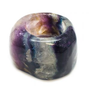 Fluorite Candle Holder-0