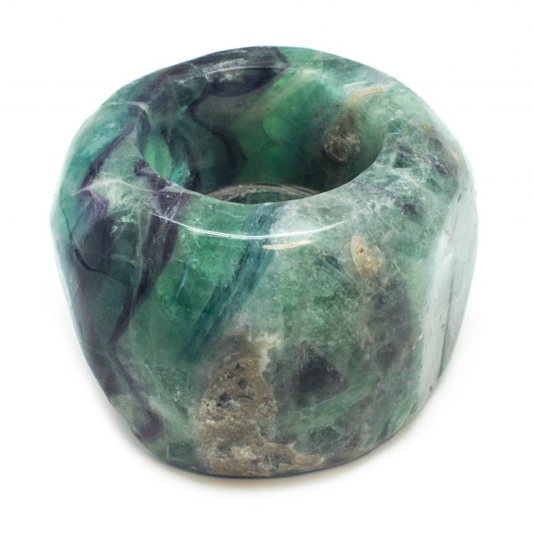 Fluorite Candle Holder-117891