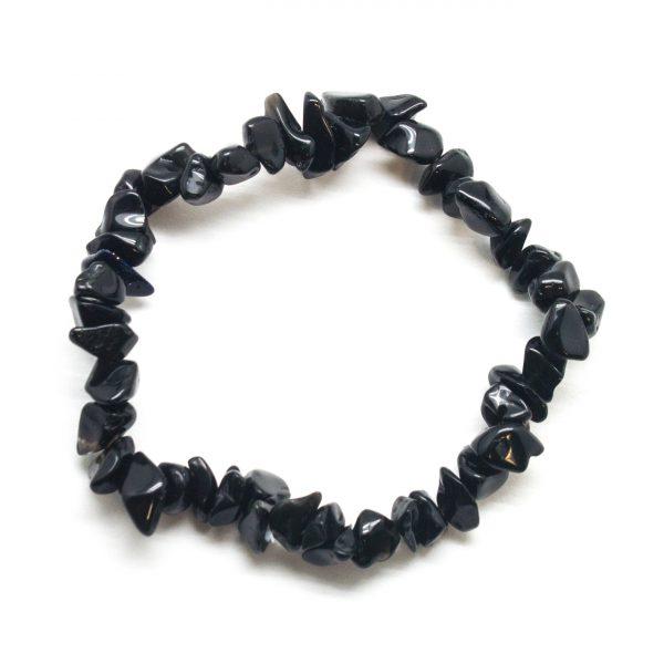 Obsidian Chip Bracelet-0