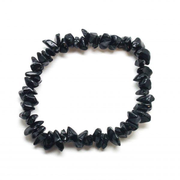 Obsidian Chip Bracelet-119685