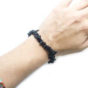 Obsidian Chip Bracelet-119684