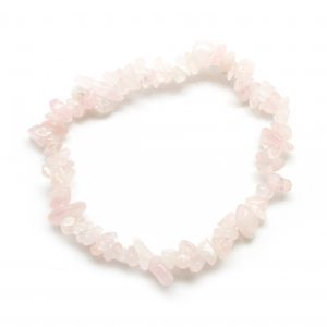 Rose Quartz Chip Bracelet-0