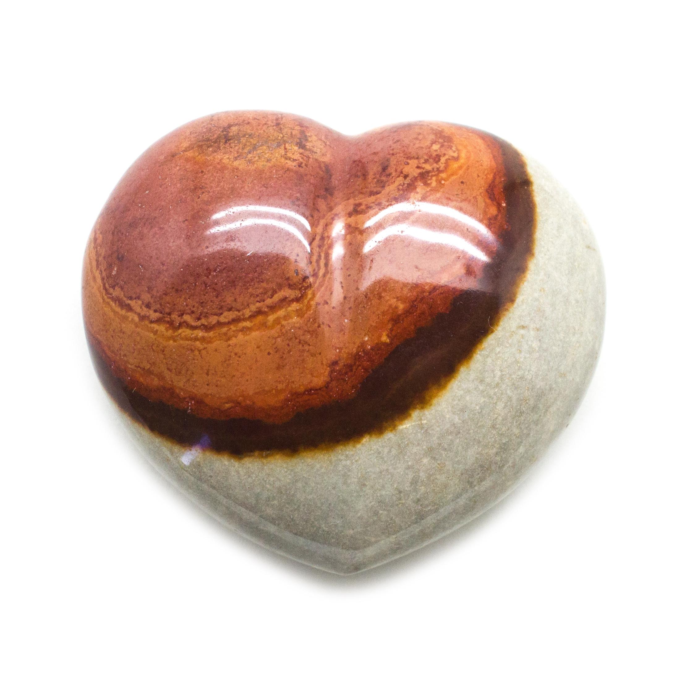 2.3 Polychrome Jasper Heart  Desert Jasper  Blue  Pink  Gemstone Crystal Heart #12