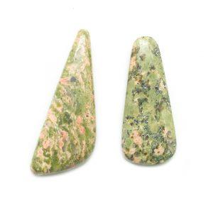 Unakite Top Drilled Stone Pair-0