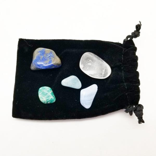 Throat Chakra Crystal Kit-0