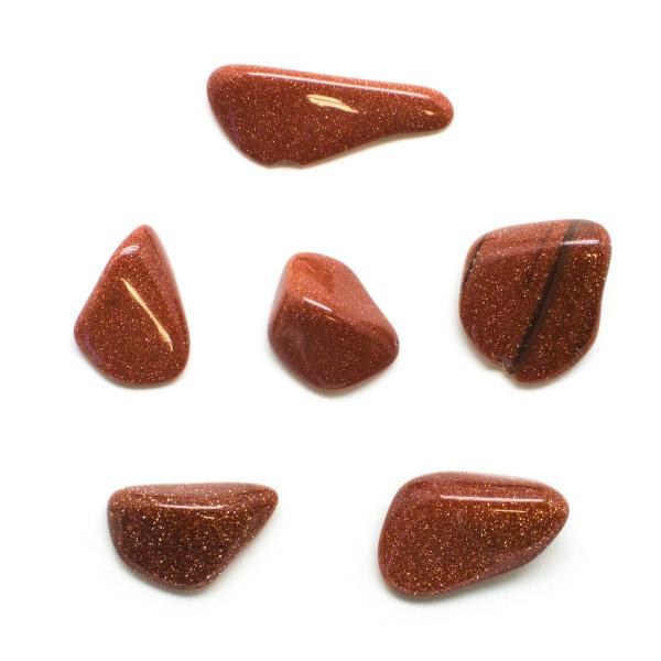 Goldstone Tumbled Stone Set (Small)-131904