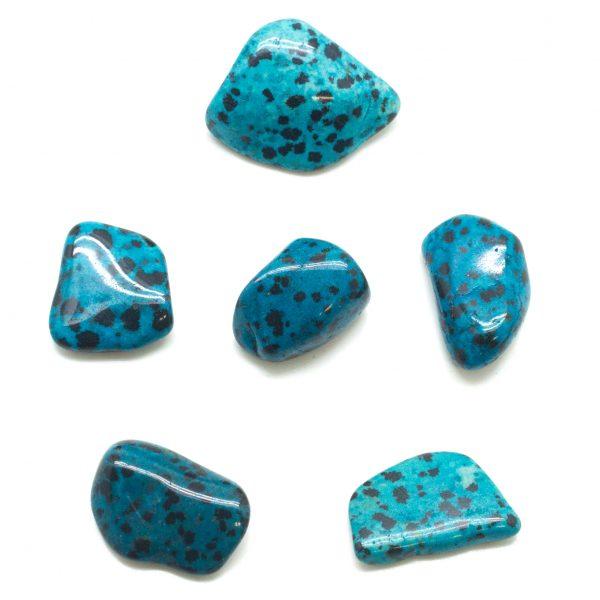 Blue Dalmatian Stone Medium Tumbled Set-136073