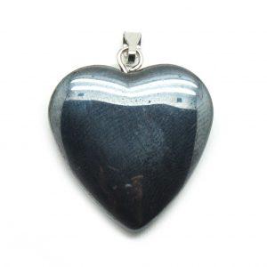 Hematite Heart Pendant-0