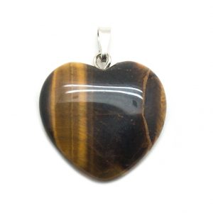 Tiger's Eye Heart Pendant-0
