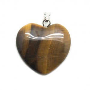 Tiger's Eye Heart Pendant-138784