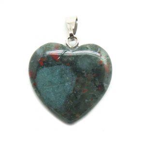 Bloodstone Heart Pendant-0