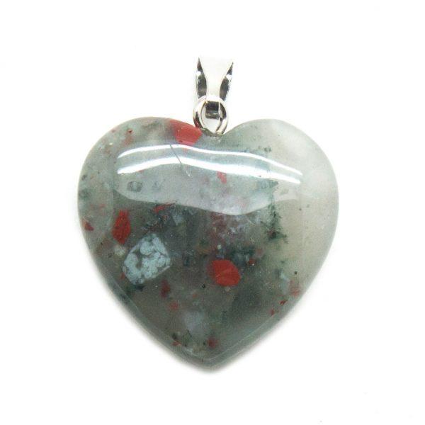 Bloodstone Heart Pendant-138809