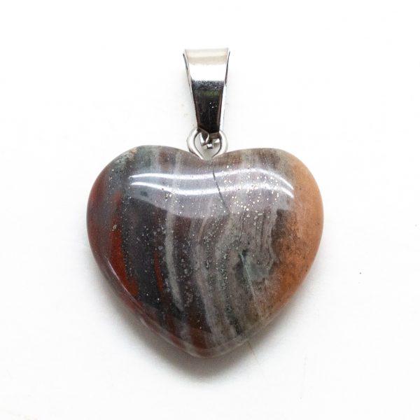 Bloodstone Heart Pendant-207310